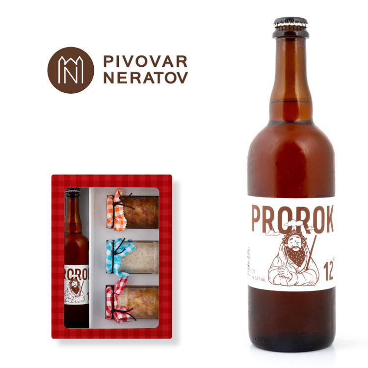 Dárkové set mohou být alternativně s pivem Prorok